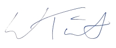 Signature for letters